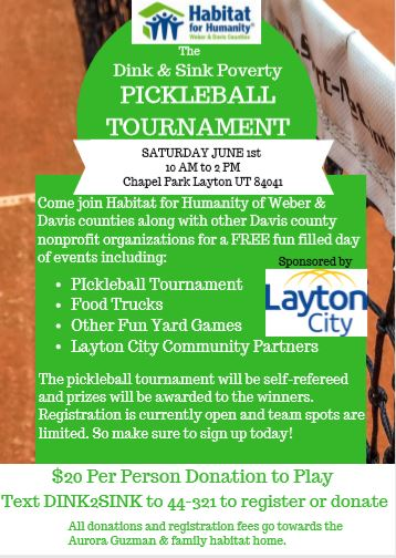 Habitat for Humanity, Ogden, Layton, volunteer, service, pickleball, pickle ball