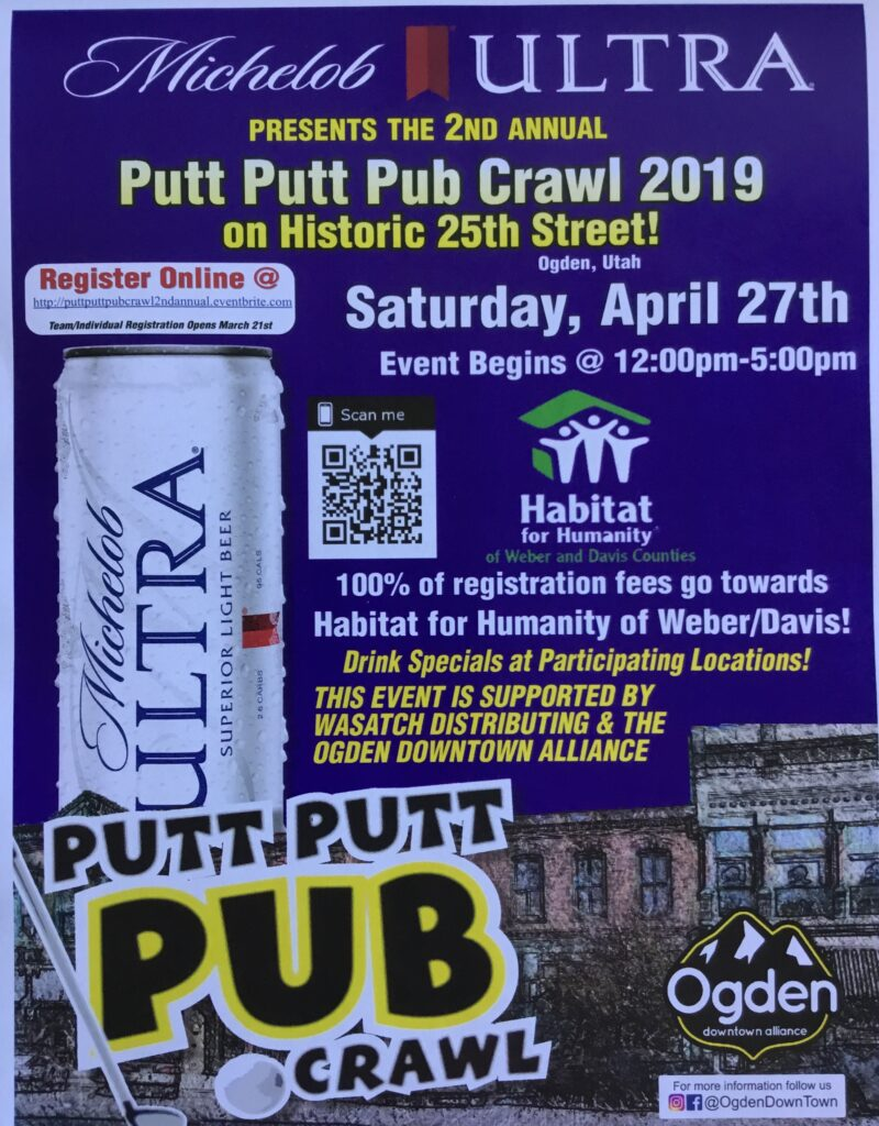 Putt Putt Pub Crawl, Golf, Ogden,